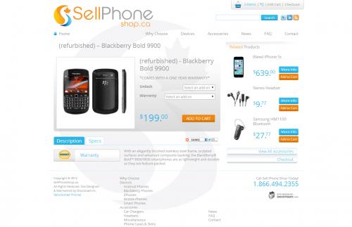 refurbished    Blackberry Bold 9900   Sell Phone Shop