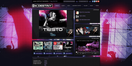 Destiny Events _ Homepage