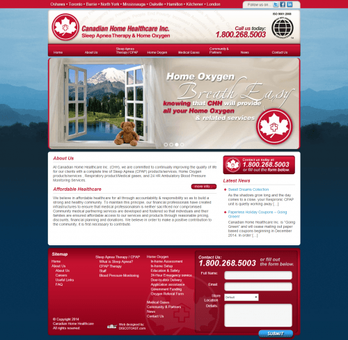 canadian home healthcare _ Homepage