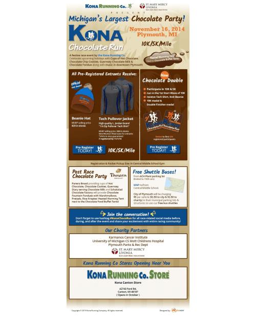 Kona Chocolate Run eMail Blast Template