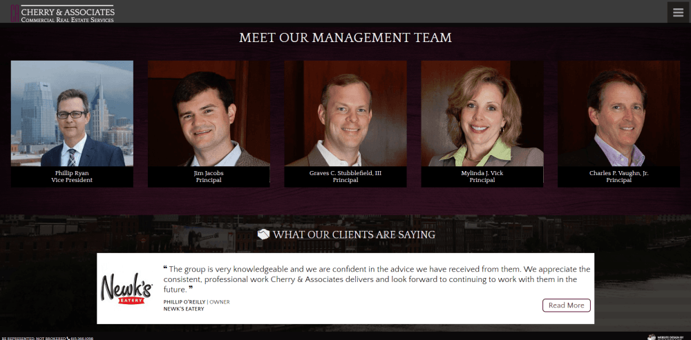 About Cherry and Associates Commercial Real Estate Web Design