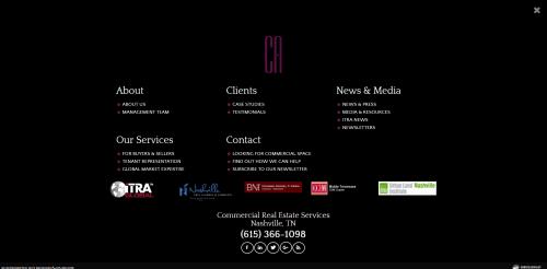 Nav Cherry and Associates Commercial Real Estate Web Design