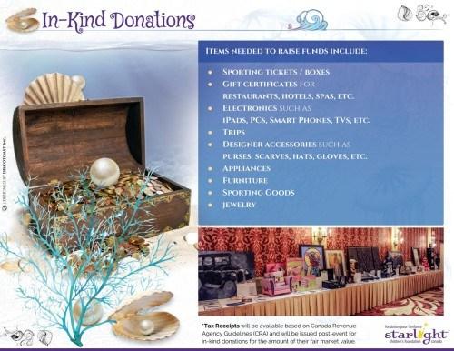 Starlight Children's Foundation Gala 2016 In Kind Donations