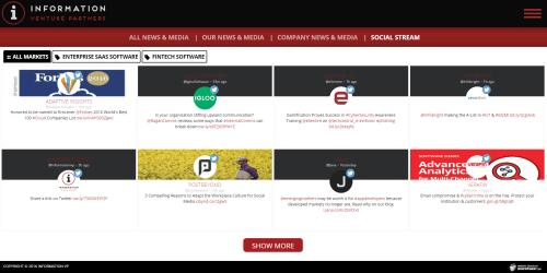 2016 Wordpress Design Portfolio-Information VP Social Stream