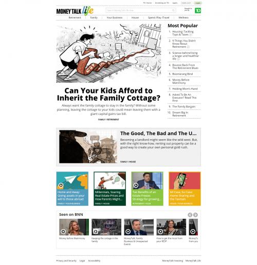 2016 Wordpress Design Portfolio- Money Talk Life Home Page Desktop