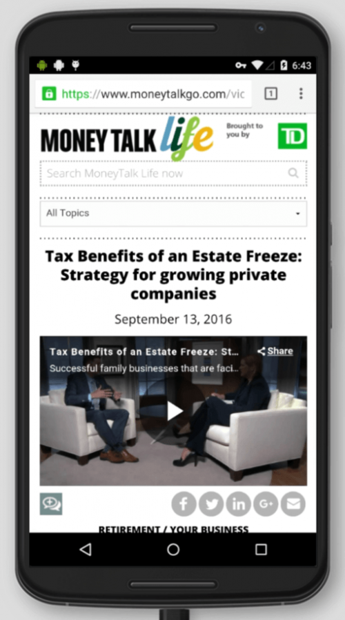 2016 Wordpress Design Portfolio- Money Talk Life Video Mobile Display