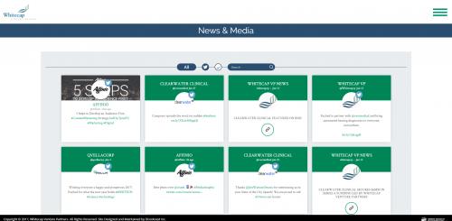 2017 Wordpress Design Portfolio- WhiteCap Venture Partners News and Media Page