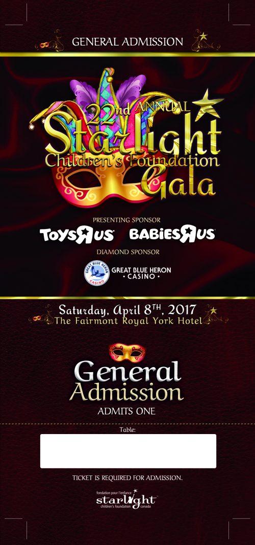 Starlight Children's Foundation Gala 2017 General Admission Ticket
