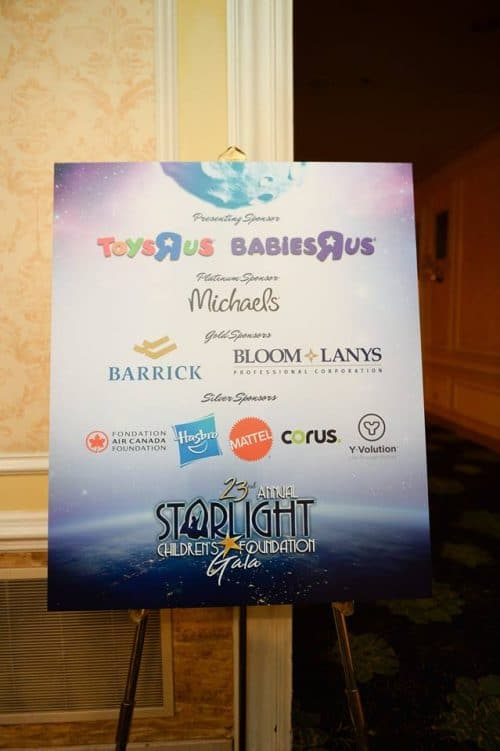 2018 Graphic Design- Starlight Childrens Foundation Annual Gala Sign 1