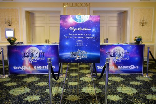 2018 Graphic Design- Starlight Childrens Foundation Annual Gala Signs