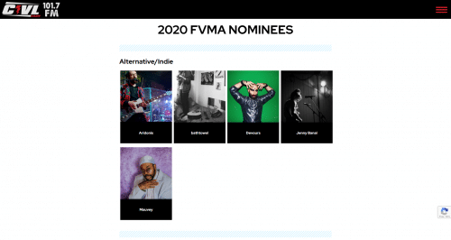 FVMA Nominee Archive Screenshot
